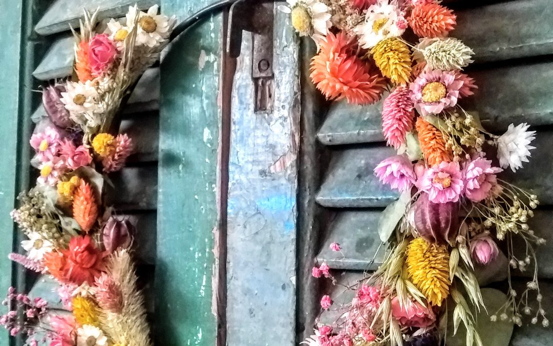 krans droogbloemen